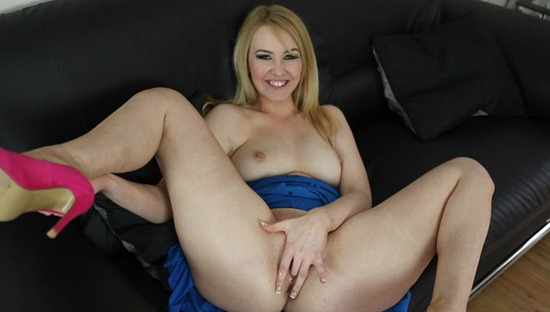 sexy blonde caught masturbating